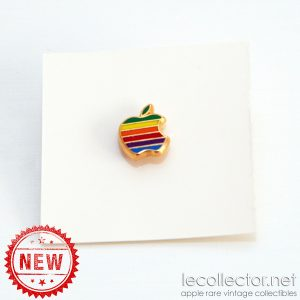 Apple computer enamel cloisonné 6 colors new unused vintage lapel pin