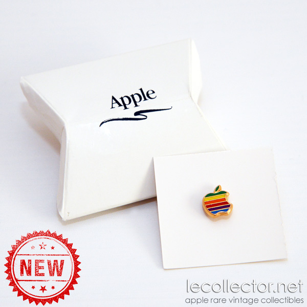 Apple computer enamel cloisonné 6 colors new unused vintage lapel pin