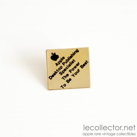 apple desktop publishing lapel pin