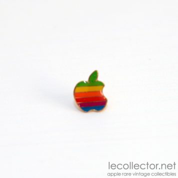 Apple computer 6 colors lapel pin rainbow made in USA