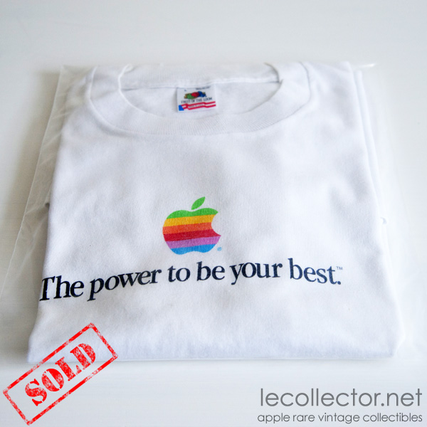 9b6501c4d Vintage rare white Apple computer t-shirt size large fruit of the loom
