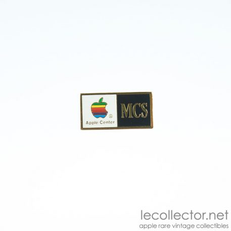 MCS Apple center lapel pin