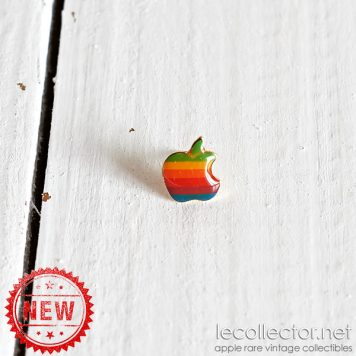 Apple computer 6 colors lapel pin rainbow golden back made in USA