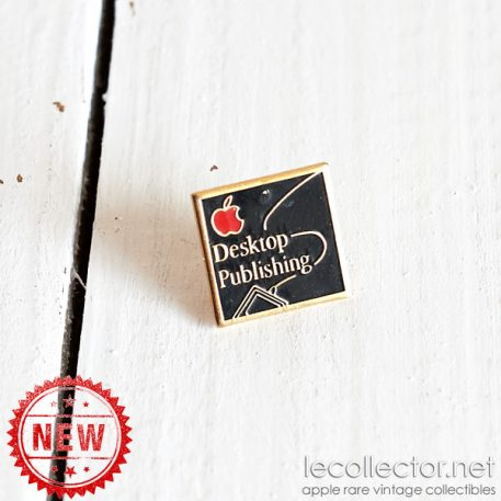 Apple computer Desktop publishing red apple black square lapel pin