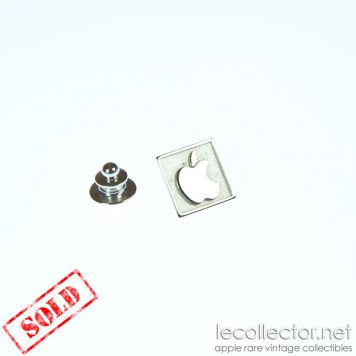 apple computer square silver lapel pin le collector