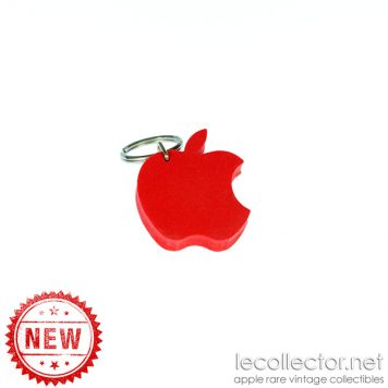 foam red apple computer logo keyring
