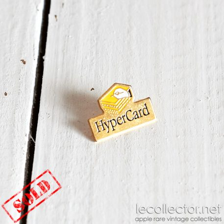 Hypercard very rare tiny beautiful brooch Apple computer