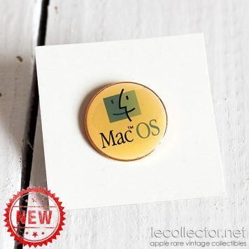 Mac OS vintage rare Apple computer round lapel pin