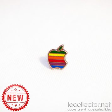 Apple computer rainbow 6 colors hard enamel silver lapel pin Decat Paris