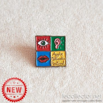 Apple multimedia festival rare lapel pin 90s
