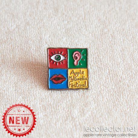 Apple multimedia festival rare lapel pin 90s