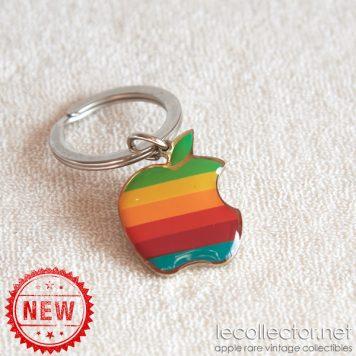Authentic vintage Apple computer key ring 6 colors rainbow