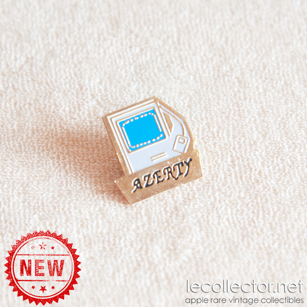 Apple Macintosh Plus Apple computer lapel pin square Azerty
