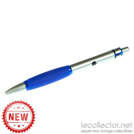 Blue promotional ball point pen Apple computer 90s metal
