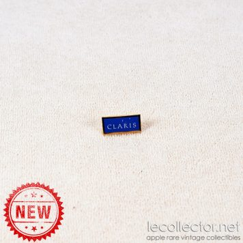 Claris Apple computer software blue square lapel pin