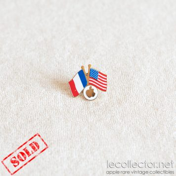 Apple computer franco american friendship ultra rare lapel pin