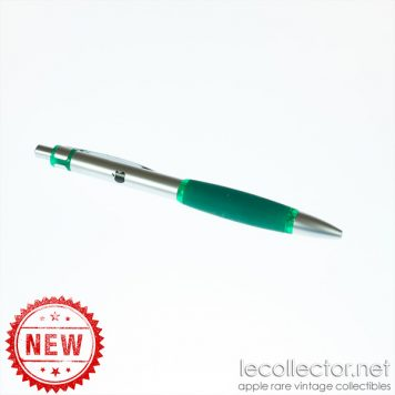 Apple computer promotional ballpoint pen 90s green metal