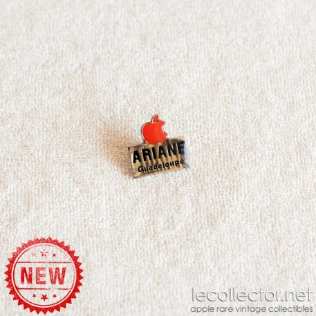 Red Apple Computer Ariane Guadeloupe authorized reseller lapel pin