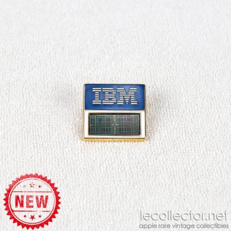 IBM real computer chip 16 mega square lapel pin