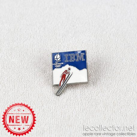 Olympic games Albertville 92 ski IBM lapel pin