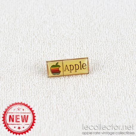 Tiny Apple gold rainbow very rare lapel pin