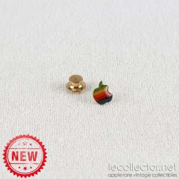 Apple rainbow 6 colors epoxy commercial french lapel pin