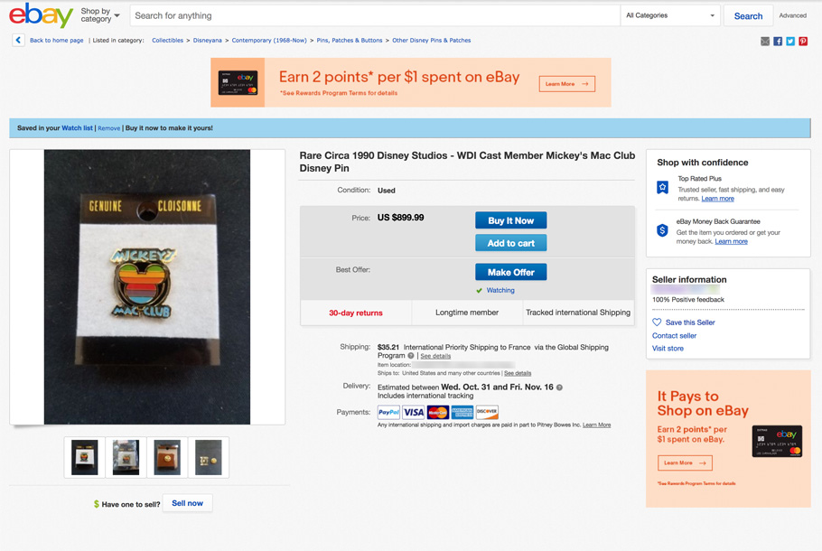 fake mickey's mac club sold on ebay