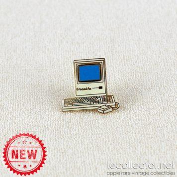 Macintosh Plus Tablo Paris blue variant hard enamel lapel pin