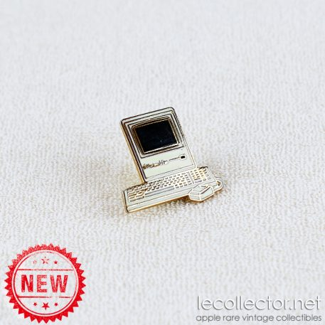 Macintosh Plus Tablo Paris gray variant hard enamel lapel pin