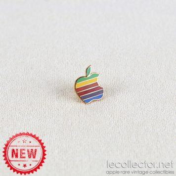 Apple computer 6 colors hard enamel king size lapel pin made in USA