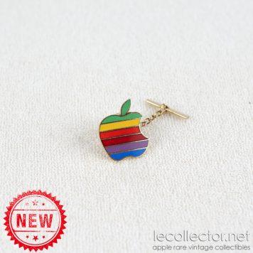 Apple computer 6 colors hard enamel king size tie tack lapel pin