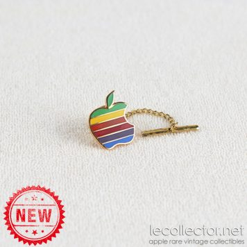 Apple computer 6 colors hard enamel king size tie tack lapel pin