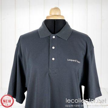 Apple Leopard Team polo shirt charcoal gray MacOS X engineering Macintosh medium size