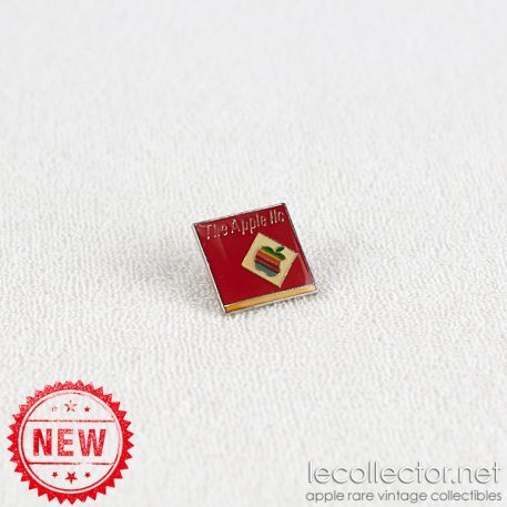 Vintage Apple IIc computer square lapel pin