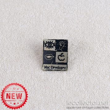 Mac developer black and silver extremely rare lapel pin