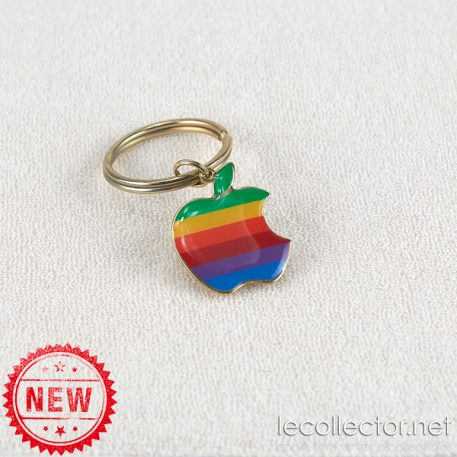 Vintage authentic Apple computer key ring 6 colors rainbow