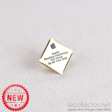 Apple Desktop Publishing square lapel pin