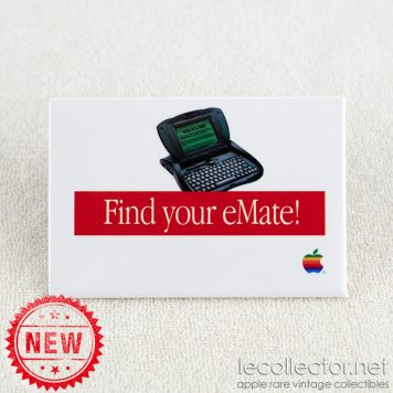 Apple rare mint badge find your eMate circa 1997