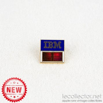 IBM real computer chip 16 mega orange variant square lapel pin
