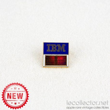 IBM real computer chip 16 mega orange variant square lapel pin