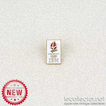 Winter Olympics Albertville 1992 IBM gold variant cloisonne enamel lapel pin
