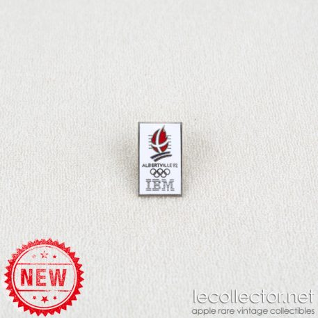 Winter Olympics Albertville 1992 IBM silver variant cloisonne enamel lapel pin